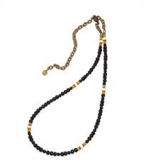 画像2: 【Meltingpot by Lakeman】2way Necklace BLACK Yellow x White (2)