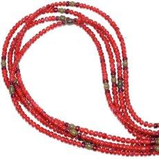 画像1: 【Meltingpot by Lakeman】2way Necklace BROWN RED Purple red x Olive (1)