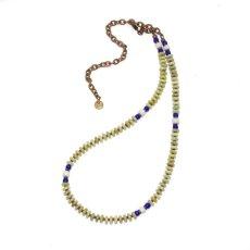 画像2: 【Meltingpot by Lakeman】2way Necklace APPLE GREEN Blue x White (2)