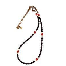 画像2: 【Meltingpot by Lakeman】2way Necklace BLACK White x M.red (2)