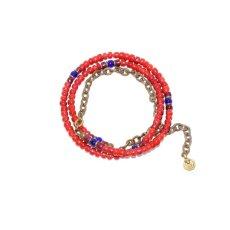 画像3: 【Meltingpot by Lakeman】2way Necklace BROWN RED Purple red x Blue (3)