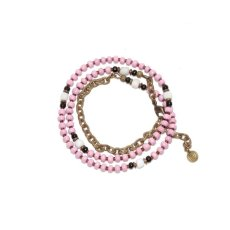 画像3: 【Meltingpot by Lakeman】2way Necklace MASAI PINK Black x White (3)