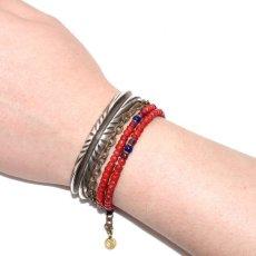 画像4: 【Meltingpot by Lakeman】2way Necklace BROWN RED Purple red x Blue (4)