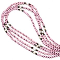 画像1: 【Meltingpot by Lakeman】2way Necklace MASAI PINK Black x White (1)