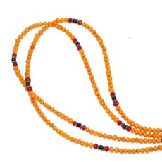 画像1: 【Meltingpot by Lakeman】2way Necklace ORANGE Deep red x Black (1)