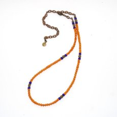 画像2: 【Meltingpot by Lakeman】2way Necklace ORANGE Blue x Olive (2)