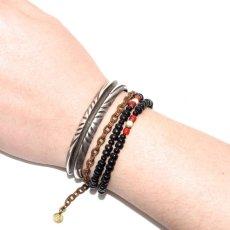 画像4: 【Meltingpot by Lakeman】2way Necklace BLACK Brown red x White (4)