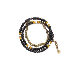 画像3: 【Meltingpot by Lakeman】2way Necklace BLACK Yellow x White (3)