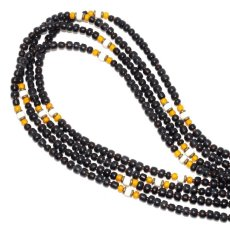 画像1: 【Meltingpot by Lakeman】2way Necklace BLACK Yellow x White (1)