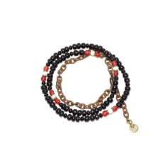 画像3: 【Meltingpot by Lakeman】2way Necklace BLACK Brown red x White (3)
