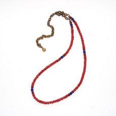 画像2: 【Meltingpot by Lakeman】2way Necklace BROWN RED Purple red x Blue (2)
