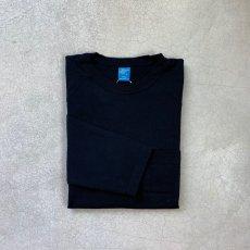 画像3: -Good On- L/S HEAVY RAGLAN POCKET TEE(BLACK/WHITE)  (3)
