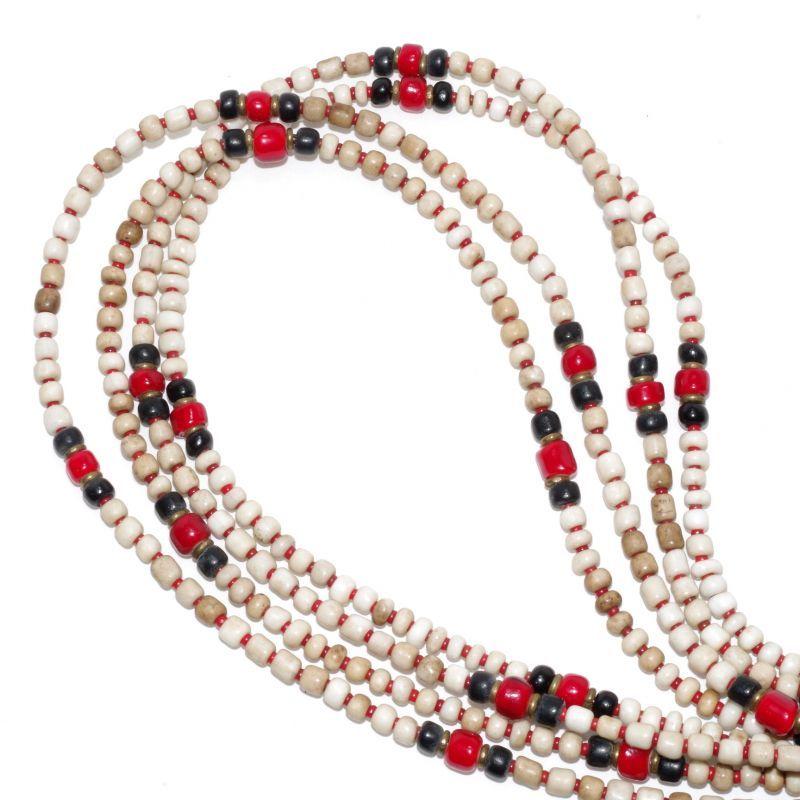 画像1: 【Meltingpot by Lakeman】2way Necklace WHITE Black x M.red (1)