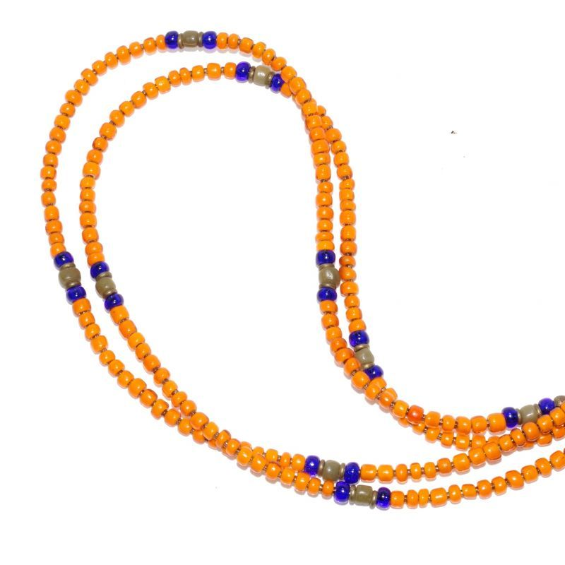 画像1: 【Meltingpot by Lakeman】2way Necklace ORANGE Blue x Olive (1)
