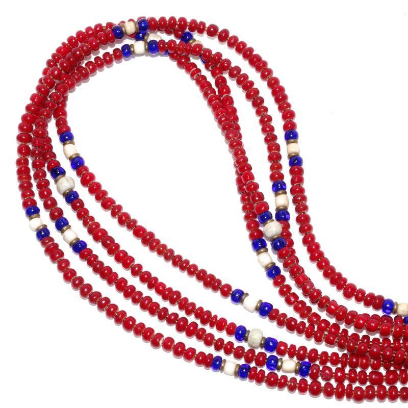 画像1: 【Meltingpot by Lakeman】2way Necklace DEEP RED Blue x White (1)
