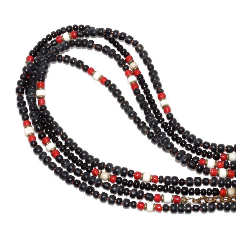 画像1: 【Meltingpot by Lakeman】2way Necklace BLACK Brown red x White (1)