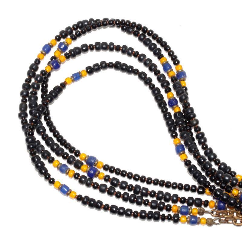 画像1: 【Meltingpot by Lakeman】2way Necklace BLACK Yellow x Blue (1)