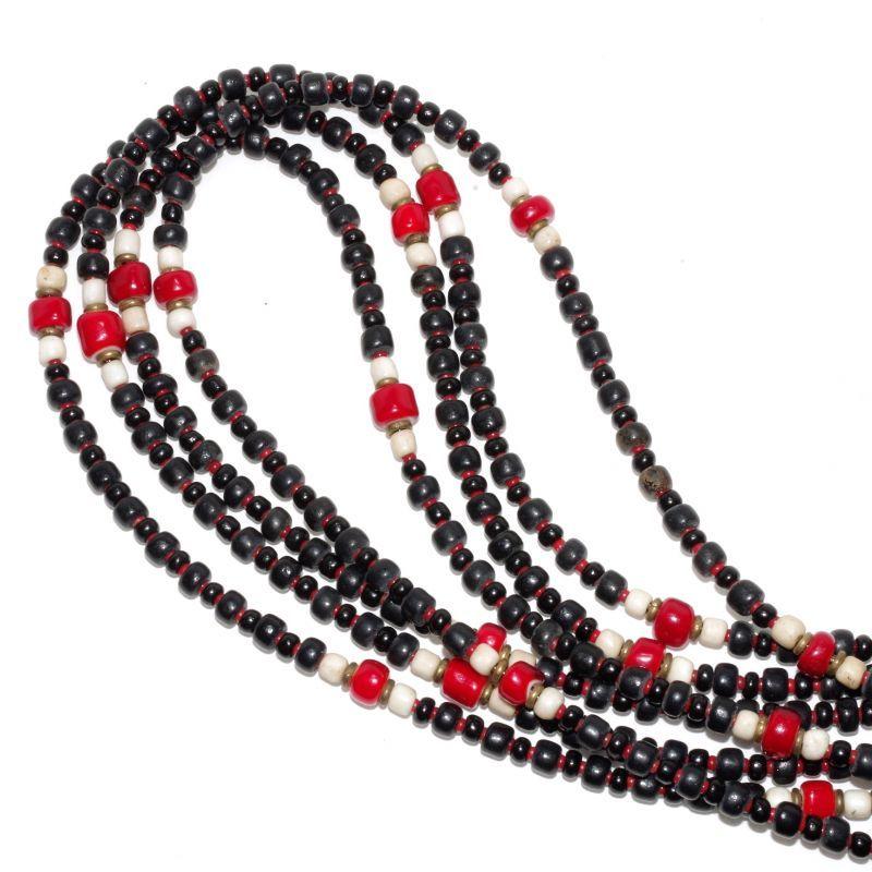 画像1: 【Meltingpot by Lakeman】2way Necklace BLACK White x M.red (1)