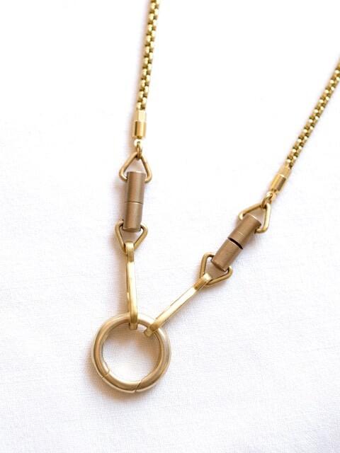 画像1: -MEL.- Chameleon Necklace (Brass chain)  (1)