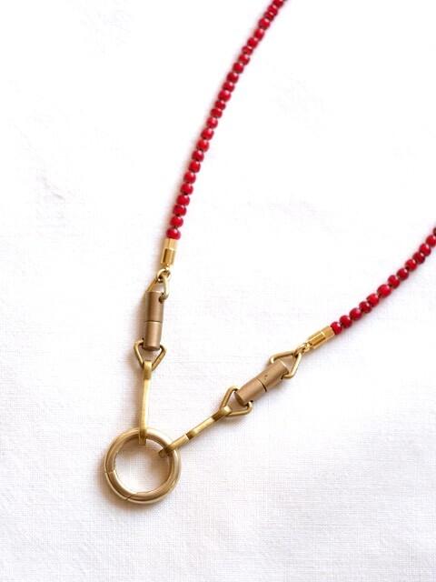 画像1: -MEL.- Chameleon Necklace (Deep red)  (1)