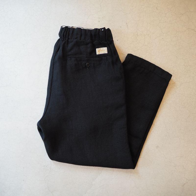 画像1: -GOWEST/ゴーウエスト- E・Z PANTS/BLACK LINEN (1)