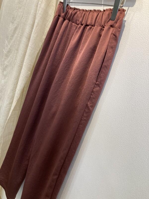 画像1: 【for-Lady's】MANON VINTAGE SATIN EASY PANTS (1)