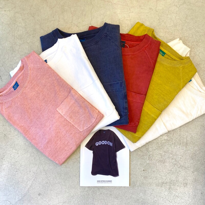 画像1: 【5色展開】-Good On- S/S HEAVY RAGLAN POCKET TEE (1)