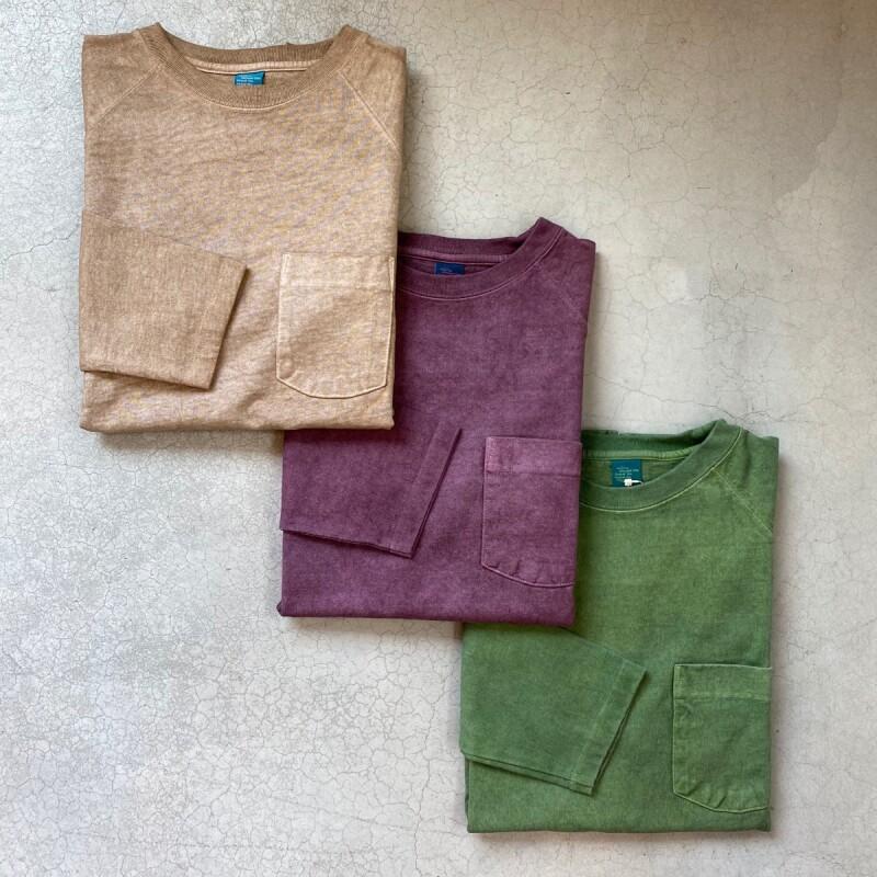 画像1: 【3色展開】-Good On- L/S HEAVY RAGLAN POCKET TEE(Pigment Dye) (1)